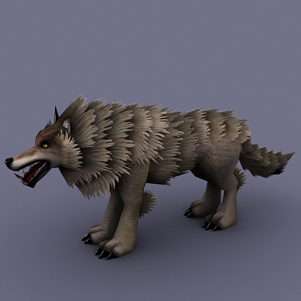 wolf gray - 3DOcean Item for Sale