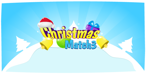 Christmas Match3 - HTML5 game. Construct2 (.capx) + leaderboard API