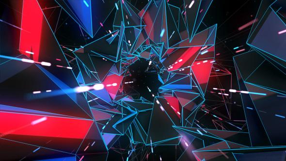 Download Polygonal Space Tunnel VJ Loop nulled download