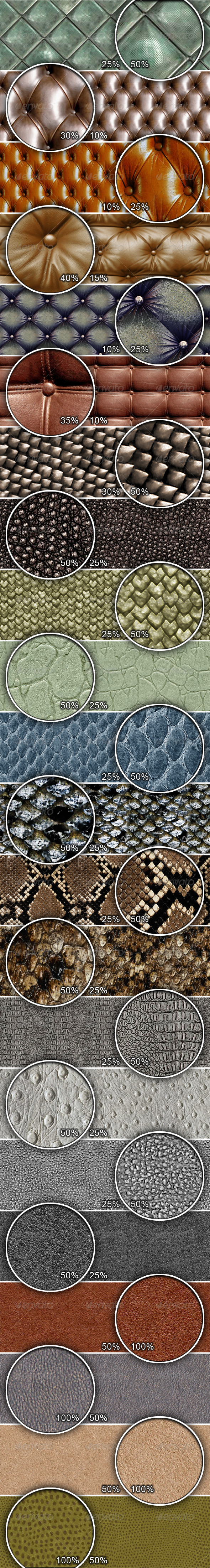 GraphicRiver Leather and Skins Tileable Patterns 1861769