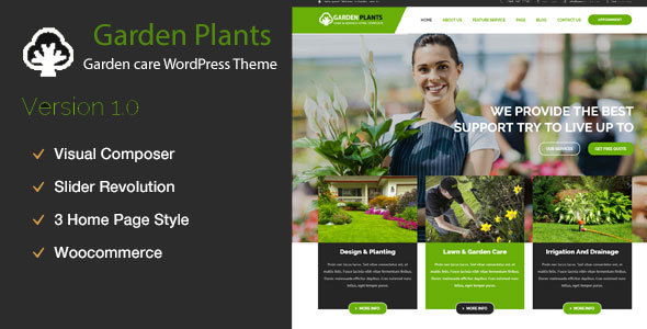 Garden Plants – Gardening, Lawn Care and Landscaping WordPress Theme (Enterprise)