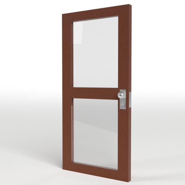 Double Glass Door - 3DOcean Item for Sale