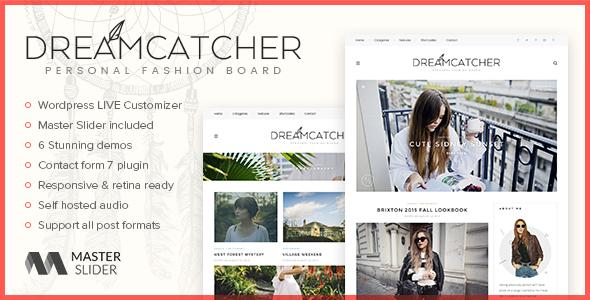 Dreamcatcher - Personal WordPress Blog Theme