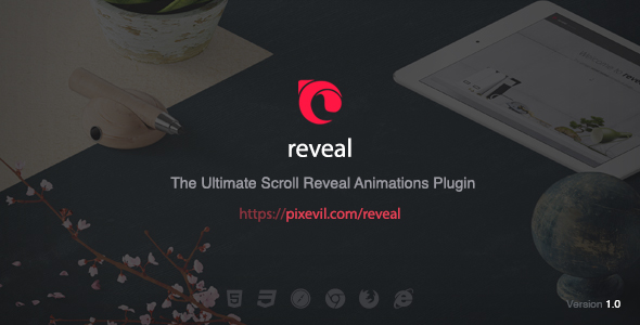 Reveal – Scroll Reveal Animations jQuery Plugin (Pictures and Media)