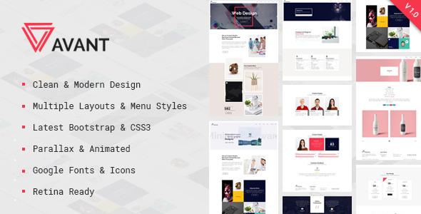 Avant - Creative & Parallax Multipurpose