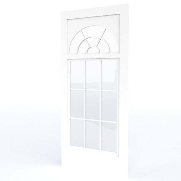 Half Moon Casement Window Door - 3DOcean Item for Sale