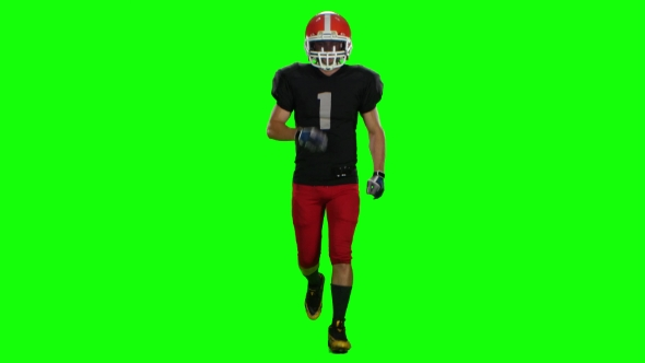 VideoHive Sportsman Running in a Helmet and Gloves 18928091