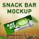 3 PSD of snack bar mockup