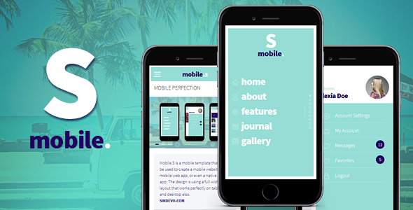 MobileS Responsive HTML Mobile Template