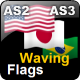 Waving Flags (Actionscript Animation)