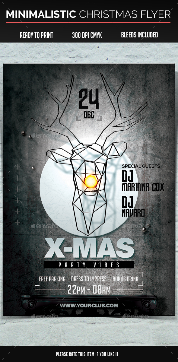 Minimalistic Christmas Flyer