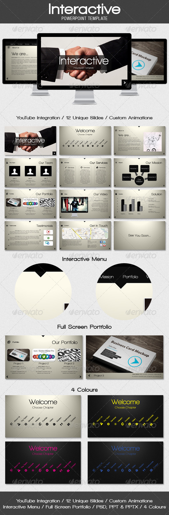 GraphicRiver Interactive Powerpoint Template 1297020