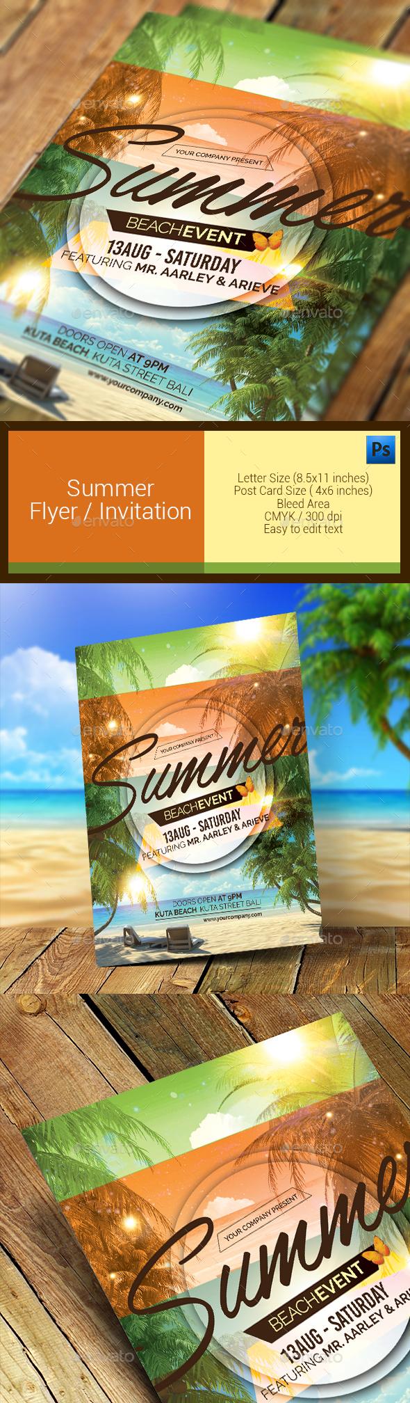 Summer Event Flyer / Invitation