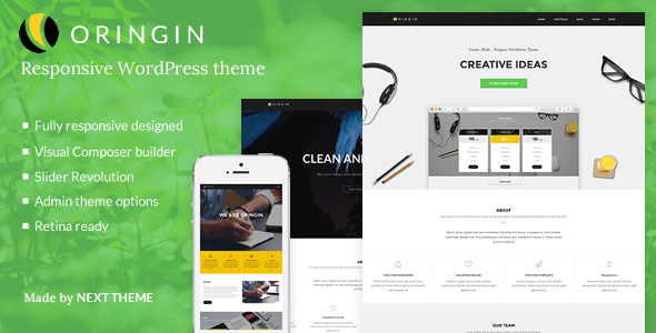 Download Oringin | Responsive Multi-Purpose WordPress Theme