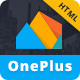 OnePlus - Responsive Material Design Template