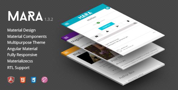 Mara | Material Design - Angular Admin Theme
