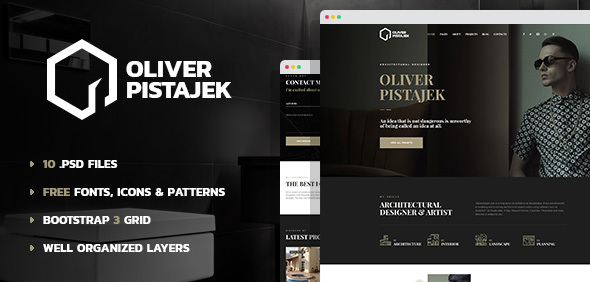 Architecture – Architecture and Design and style PSD Template (Inventive)