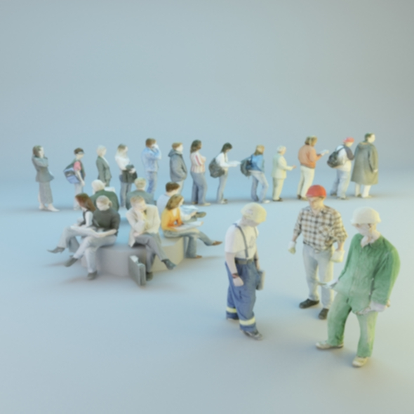 low poly peoples - 3DOcean Item for Sale