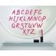Lipstick Alfabet Shelf Mirror Realistic