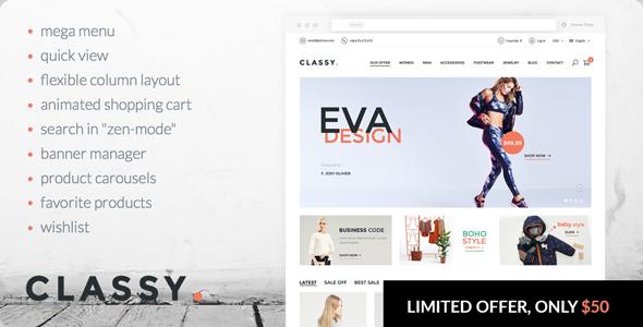 Classy - elegant, modern PrestaShop theme
