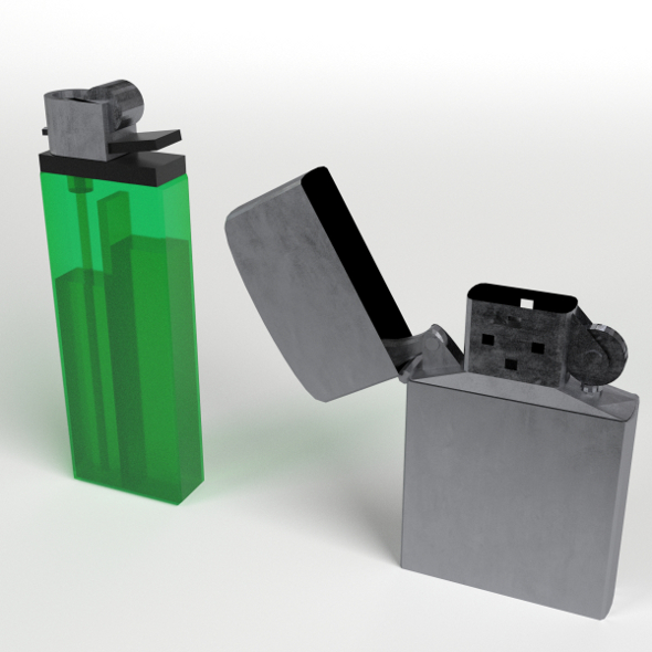 Disposable and Zippo Lighters - 3DOcean Item for Sale