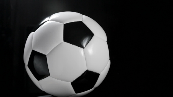 VideoHive Soccer Ball or Football Bright Studio on a Black 18938745