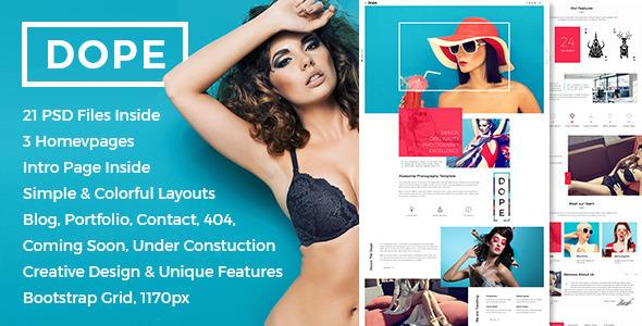Dope - Creative Photography Portfolio HTML5 Template