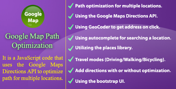 Download Google Map Path Optimization nulled download