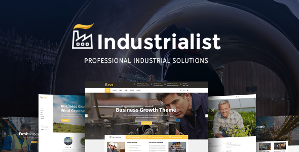 Download Industrialist - An Expert Theme for Industry & Manufacturing Businesses nulled download