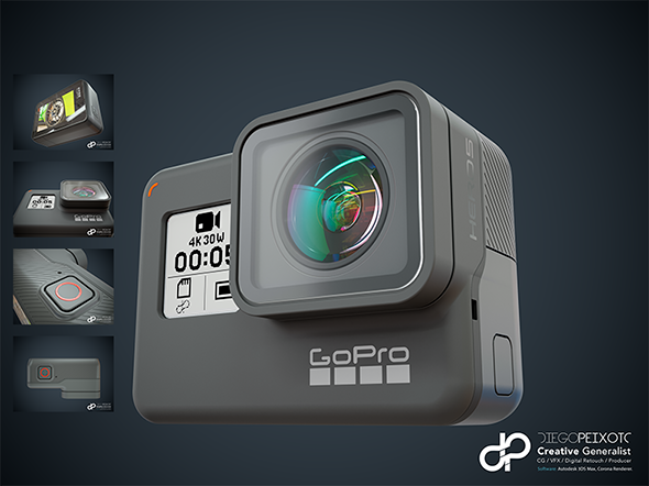 GoPro Hero 5 Black - 3DOcean Item for Sale