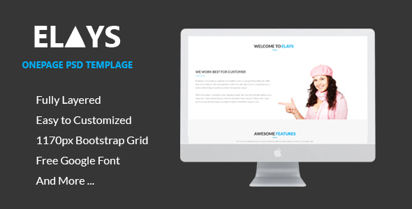 ELAYS – Multipurpose Onepage PSD Template
