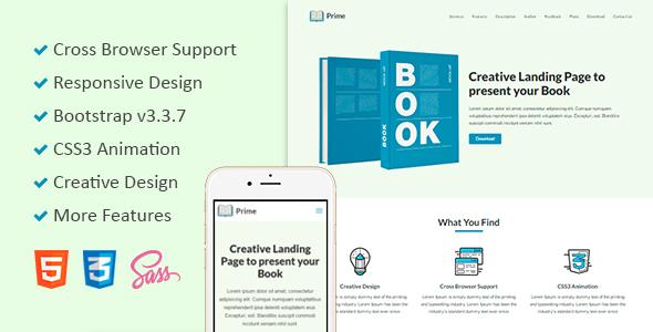 Prime – Responsive Book Landing Web page (Landing Pages)