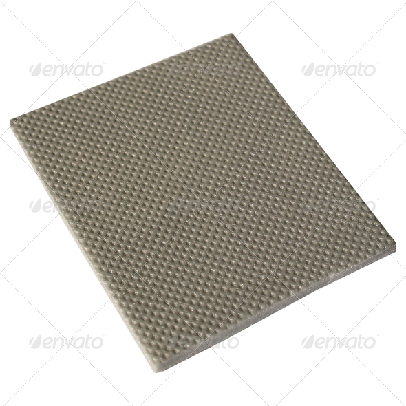 Sample of acoustic insulation for soundproofing floor - Stock Photo - Images