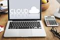 Cloud Network Data Digital Storage Technology Concept