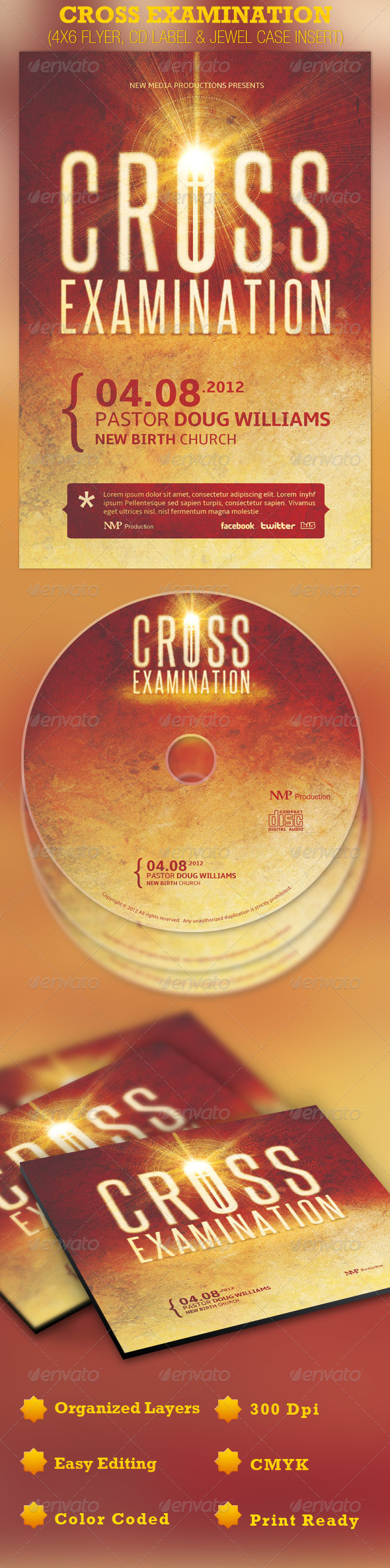 GraphicRiver Cross Examination Flyer CD and Jewel Case 1863731