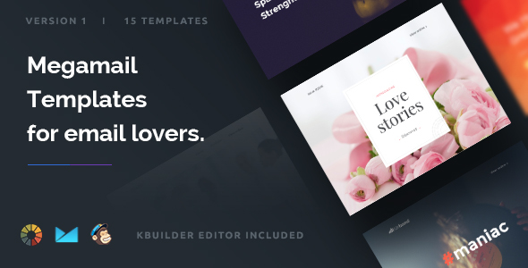 Download Megamail - 10 Email Templates Set + Kbuilder 1.2 nulled download