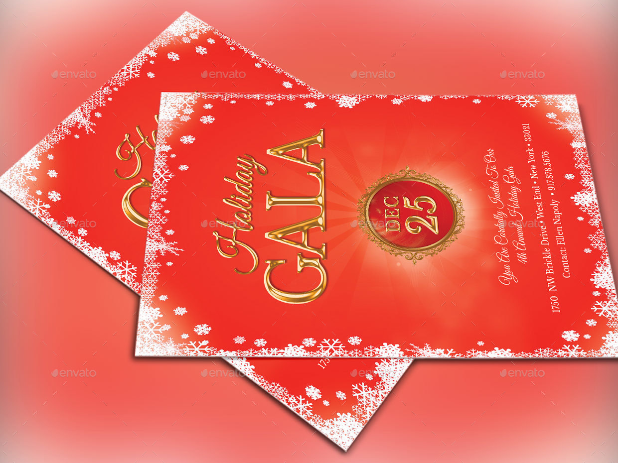 holiday gala invitation template by 4cgraphic2 graphicriver preview image set holiday gala invitation template preview 1 jpg preview image set holiday gala invitation template preview 2 jpg