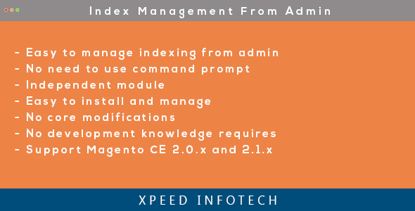 Magento 2 Index Management from Admin