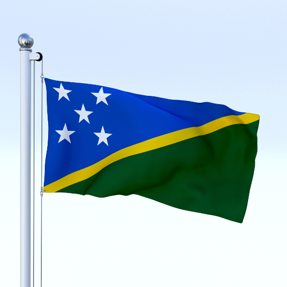 Animated Solomon Islands Flag - 3DOcean Item for Sale
