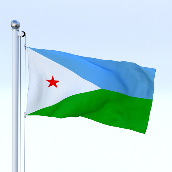 Animated Djibouti Flag - 3DOcean Item for Sale