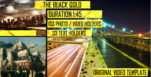 After Effects Project - VideoHive The Black Gold 1864189