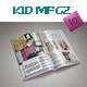 Xmas Kid Magazine Template
