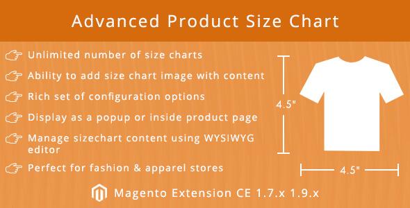 Product Size Chart Pro