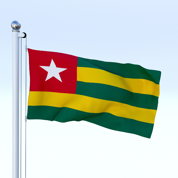 Animated Togo Flag - 3DOcean Item for Sale