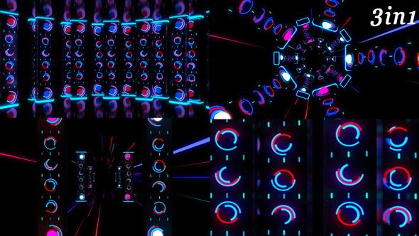 Download Neon Stage - VJ Loop Pack (3in1) nulled download