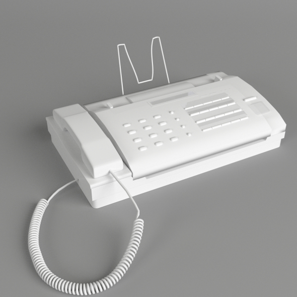 Office Fax Machine - 3DOcean Item for Sale
