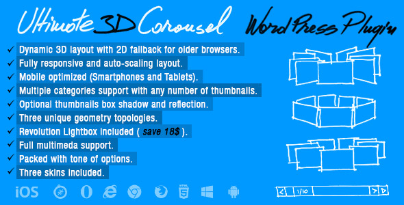 Download Ultimate 3D Carousel WordPress Plugin nulled download