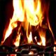 Open Wood-Burning Fire
