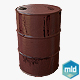 Low Poly Barrel Metal