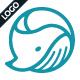 Circle Whale Logo Template